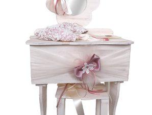 Ξύλινη τουαλέτα βάπτισης με καθρέφτη