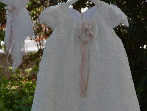 "Piccolino Χειμερινό Φόρεμα Βάπτισης ""Felicia"" Ιβουάρ AWDR19F09"