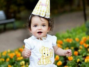 RuffleButts Παιδική Μπλούζα Λευκή με Ελεφαντάκι, 12-18 μηνών