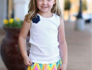 RuffleButts Παιδικό Αμάνικο Μπλούζακι με Μπλε Λουλούδι, 6-12 μηνών