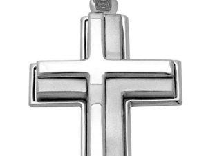 Σταυρός από Λευκόχρυσο 14Κ SIO12073