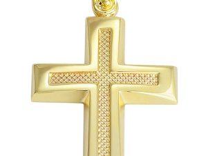 Σταυρός από Χρυσό 14Κ SIO12164