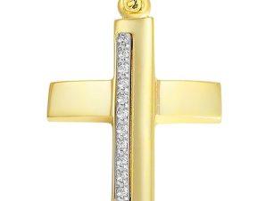 Σταυρός από Χρυσό 14Κ με πέτρες SIO12374