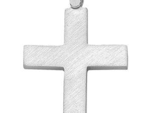 Σταυρός από Λευκόχρυσο 14Κ SIO13549