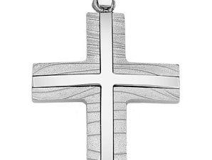 Σταυρός από Λευκόχρυσο 14Κ SIO14847