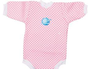Splash About Μαγιό Ολόσωμο με μανίκι UPF50+ Ροζ Ρίγες 6-12 μηνών