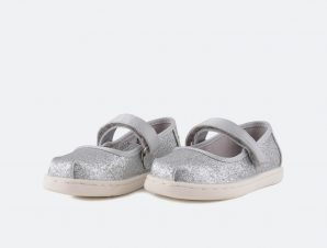 TOMS Silver Iridescent Glimmer Mary Jane   Παιδικά Παπούτσια (9000006019_9264)