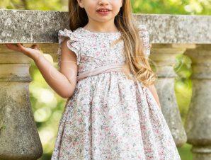 Vinte Li Χειμερινό Φόρεμα Βάπτισης Εμπριμέ 4803